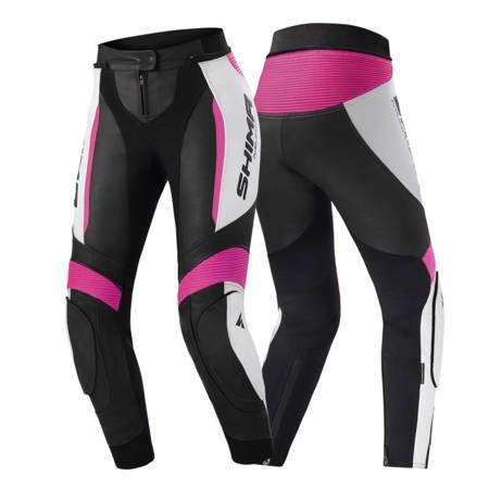 Damskie spodnie skórzane SHIMA MIURA 2.0 czarno różowe