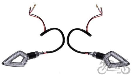 Kierunkowskaz  LED /czarny/ szkło jasne