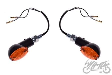 Kierunkowskaz  LED /czarny/ szkło pomarańczowe