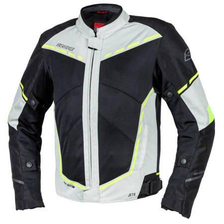 Kurtka tekstylna OZONE JET II ice/black/ fluo yellow