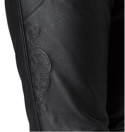 Spodnie skórzane HELD LADY GINA czarne